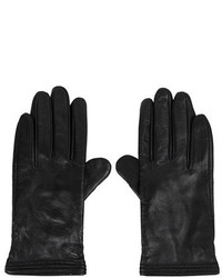 Topshop Ribbed Leather Gloves