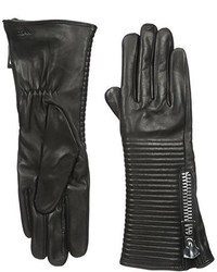 Rudsak Firmi Leather Glove With Stitching And Zipper