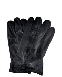 Samtee Gm160 Leather Gloves With Zipper In Black
