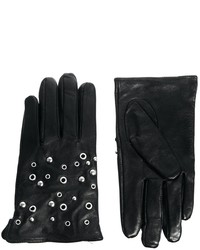 Selected Stud Gloves Black