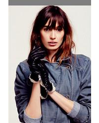 Carolina Amato Shearling Cuff Leather Glove