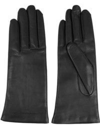 Givenchy Short Gloves In Black Leather