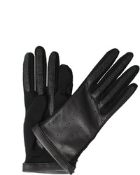 Lanvin Short Leather Jersey Glove
