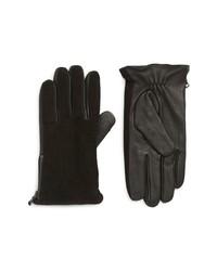 John Varvatos Star USA Side Zip Leather Gloves