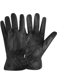 Stafford Stafford Leather Fleece Lined Texting Gloves