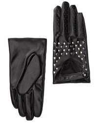 David & Young Studded Faux Leather Moto Gloves