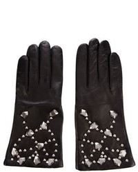 Diane von Furstenberg Studded Leather Gloves