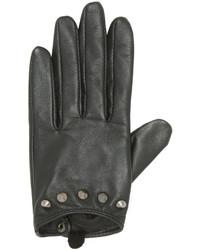 Carolina Amato Studded Short Leather Gloves