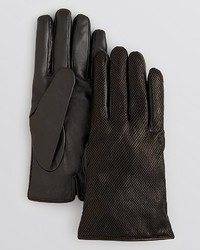 Bloomingdale's The Store At Perforated Leather Palm Tech Gloves