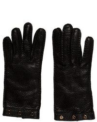Tod's Cashmere Lined Leather Gloves