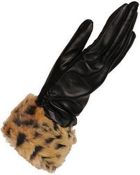 Wilsons Leather Touch Point Glove W Faux Fur Cuff And Thinsulate Lining