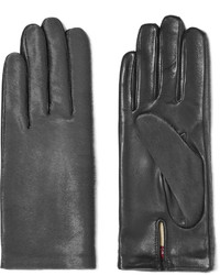 Agnelle Two Tone Calf Hair And Leather Gloves