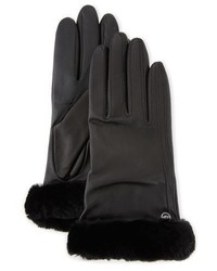 UGG Classic Leather Smart Gloves Black