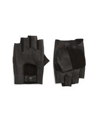 John Varvatos Star USA Unlined Fingerless Leather Gloves