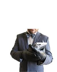 Black Leather Gloves