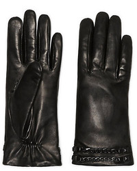 Vince Camuto Leather Studded Chain Glove