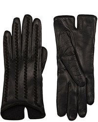 Barneys New York Whipstitched Leather Gloves