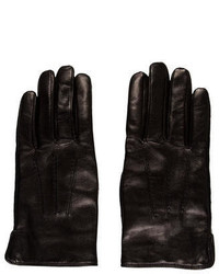 A.P.C. Wool Trimmed Leather Gloves