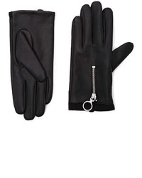 Forever 21 Zippered Faux Leather Gloves