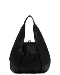 Ys Black Large Clasp Hand Bag