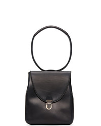 Cherevichkiotvichki Black Mini Rectangular Lock Bag