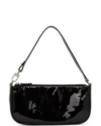 By Far Black Patent Rachel Baguette Bag