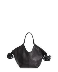 Ulla Johnson Mini Lali Pompom Leather Tote