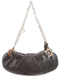 Salvatore Ferragamo Pebbled Leather Handle Bag