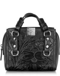 Dsquared2 Quebec Black Leather Mini Shoulder Bag
