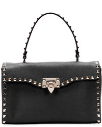 Valentino Rockstud Small Single Handle Satchel Bag Black