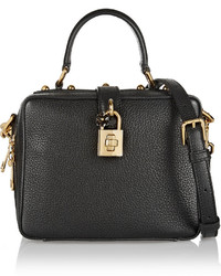 Dolce & Gabbana Rosaria Mini Textured Leather Shoulder Bag Black