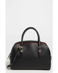 Salvatore Ferragamo Emmy Small Leather Crossbody Bag Black Rosso