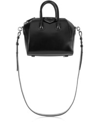 Small antigona bag in black leather medium 380293