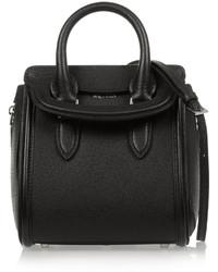 Alexander McQueen The Heroine Mini Textured Leather Shoulder Bag Black