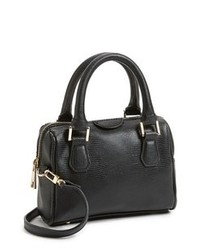 Topshop Faux Leather Crossbody Bag Small Black