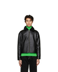 Rassvet Black Faux Leather Jacket