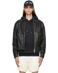 Han Kjobenhavn Black Goat Leather Bomber Jacket