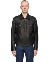 BOSS Black Leather Meras Jacket
