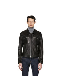 Tom Ford Black Leather Worked Jacket