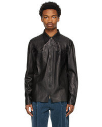 Gucci Black Nappa Leather Jacket