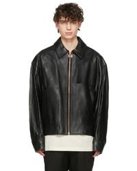 Wooyoungmi Black Zip Lambskin Jacket