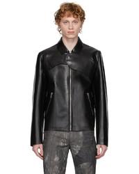 Heliot Emil Leather Harness Jacket