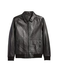 Nordstrom Men's Shop Nordstrom Leather Bomber Jacket
