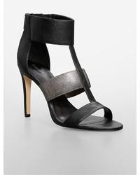 Calvin Klein Angela Leather Metallic High Heel Sandal