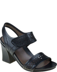 Earthies Asola Black Soft Calf Leather High Heels