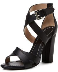 Barbara Bui Leather Strappy Chunky Heel Sandal