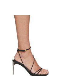 Versace Black Antheia Heeled Sandals