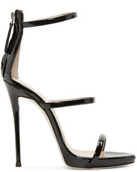 Black colline heeled sandals medium 1151608