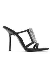 Alexander Wang Black Julie Logo Heeled Sandals