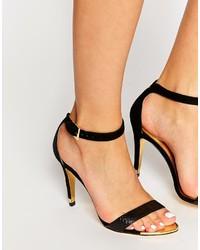 Ted Baker Black Juliennas Single Sole High Heel Sandals